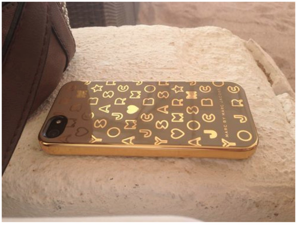 jewels marc jacobs iphone phone cover designer gold cream iphone case