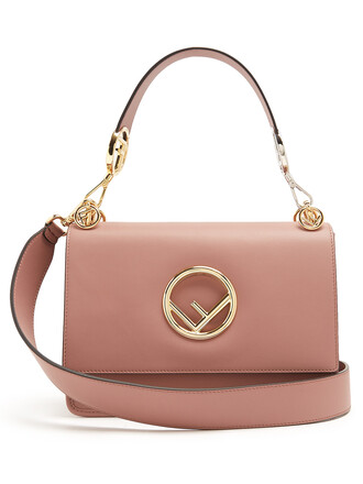 bag shoulder bag leather light pink light pink