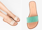 shoes,nude,nude sandals,flat sandals,slide sandals,cute sandals,tan sandals,green sandals,cute flat sandals,cute nude sandals,cute slide sandals