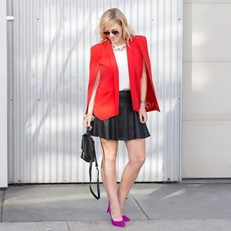 jacket nasty gal cape blazer