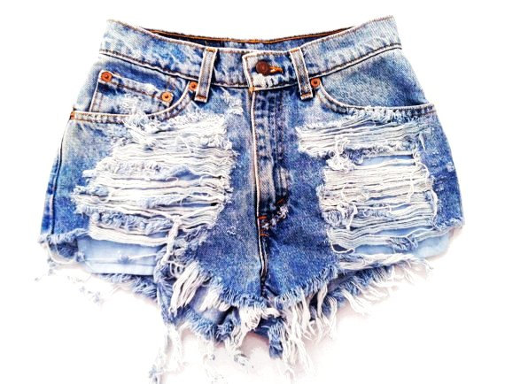 Destroyed High Waisted Shorts - The Else