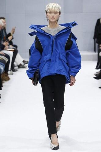 jacket balenciaga fashion week 2016 paris fashion week 2016 pants model runway