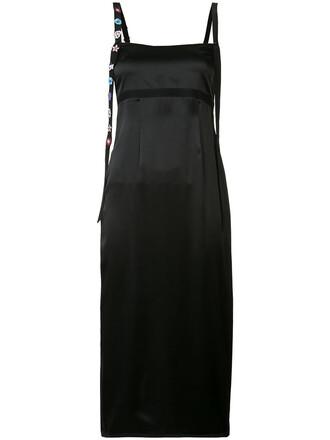 dress midi dress women midi embellished black silk
