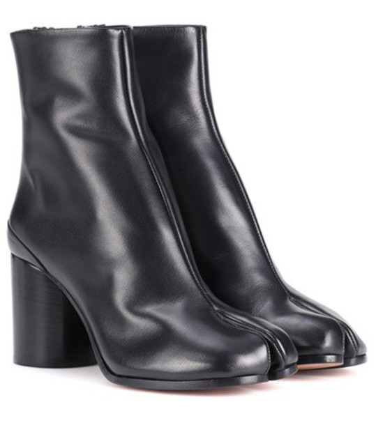 MAISON MARGIELA leather ankle boots ankle boots leather black shoes