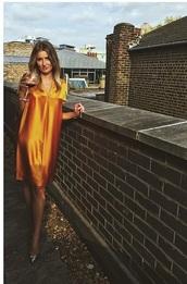dress,silk copper