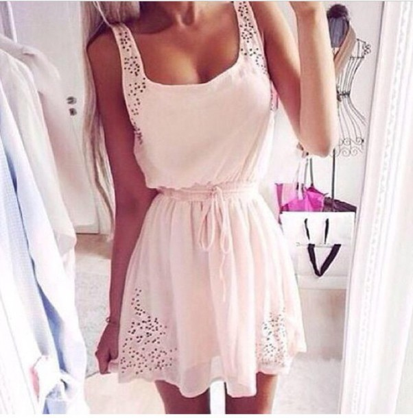 dress pearl boho belt embroidered white dress