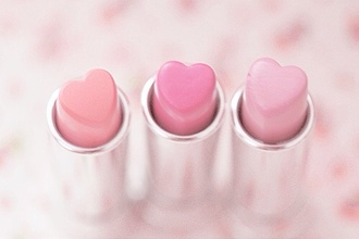 nail polish lipstick heart pink holiday gift make-up light pink lipstick pink lipstick all the pink paste pink with hearts pastel pink baby pink kawaii kawaii accessory pastel pastel goth