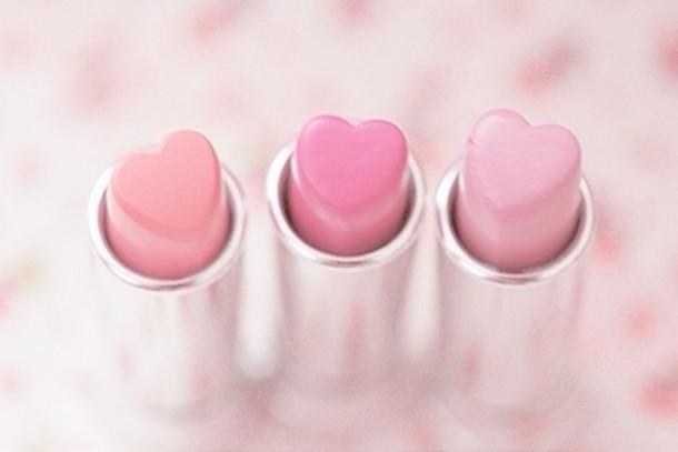 Boja7z l 610x610 nail+polish lipstick heart pink holiday+gift make light+pink+lipstick
