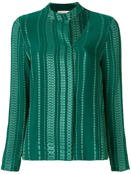 Zeus+Dione Zeus+Dione - Libra shirt - women - Silk/Rayon - 40, Green, Silk/Rayon