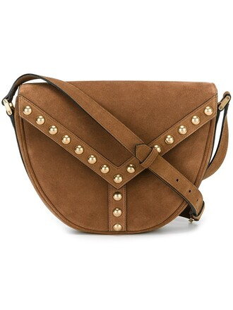 satchel studs bag satchel bag brown