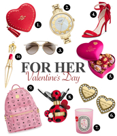 jewels,sunglasses,shoes,coach,kate spade,dior,godiva,michael kors,diptyque,marc jacobs,mcm,louboutin,watch,earrings,backpack,perfume,lipstick,bag,home accessory,make-up,valentines day