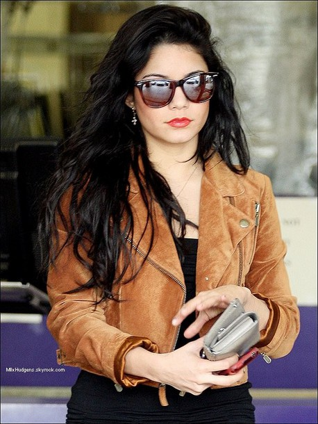 vanessa hudgens jacket perfecto brown perfecto blouse