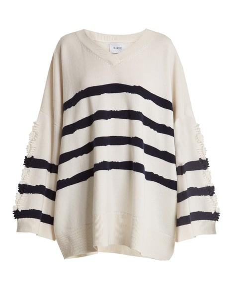 Barrie sweater oversized fancy navy white