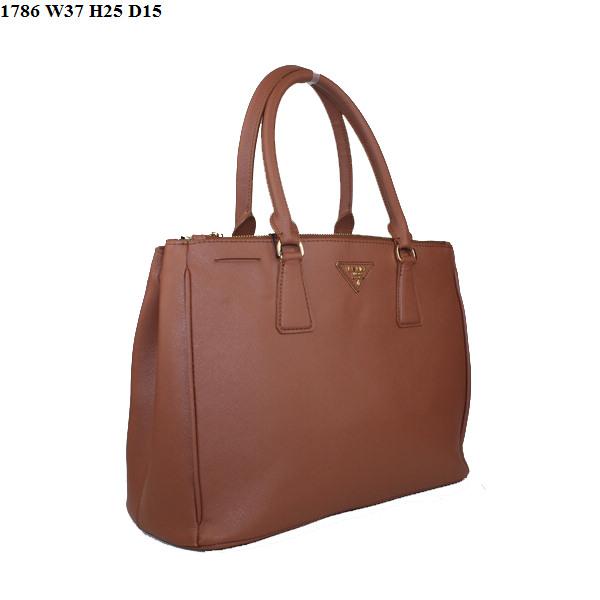 Prada Saffiano Leather Classic Tote Bag BN1786 Brown
