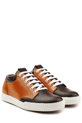 sneakers leather brown shoes