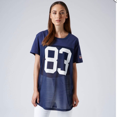 Oversized american football top