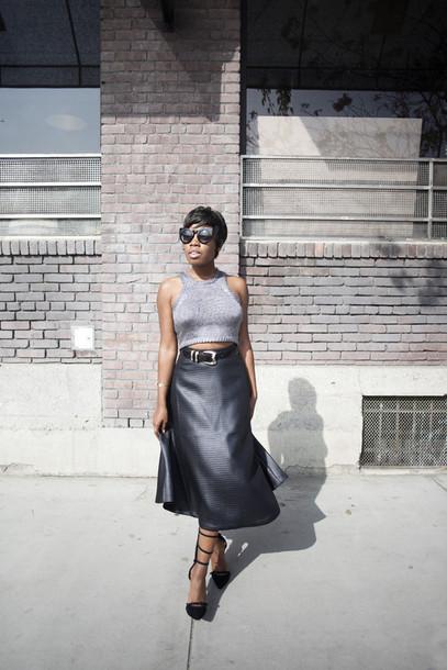 locks and trinkets blogger belt midi skirt sleeveless high waisted skirt leather skirt