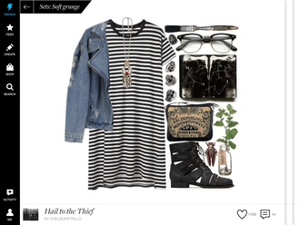 stripes black and white t-shirt dress striped dress