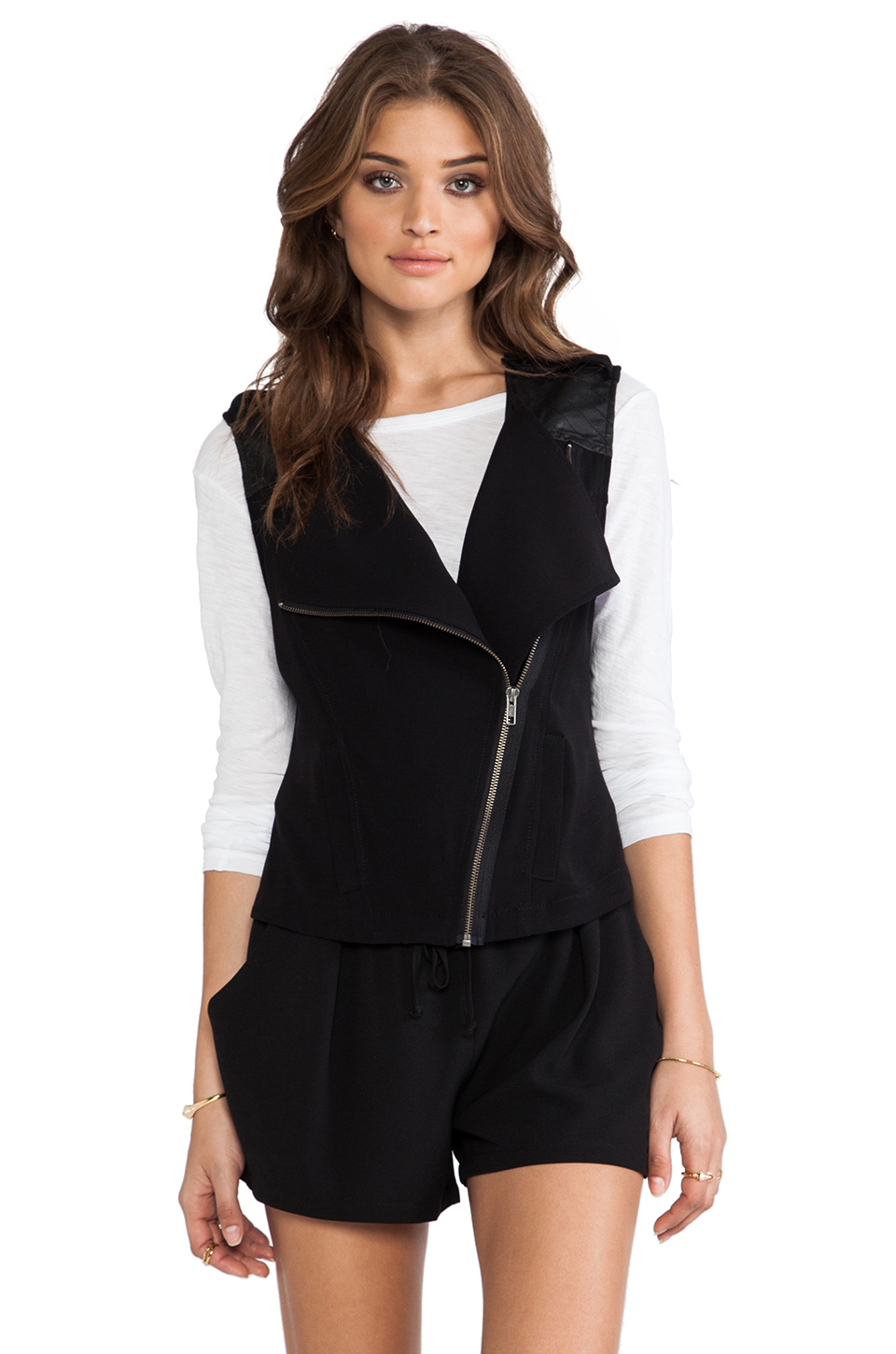 Sanctuary Soft City Vest in Black from REVOLVEclothing.com