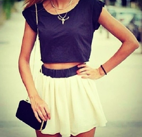 tank top jewels t-shirt skirt bag