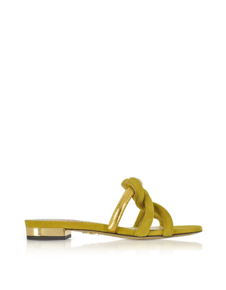 metallic sandals gold leather suede green olive green shoes