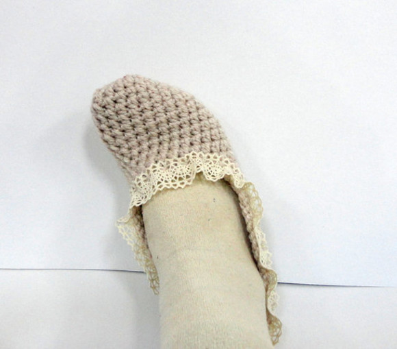 shoes beige shoes slippers women slippers socks turkish socks turkish lace socks handmade mothersday gift idea moms gift for her best gifts birthday gift