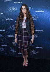 skirt,jacket,troian bellisario,plaid,animal print