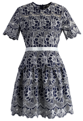 dress floral fantasies embroidered dress in navy navy dress floral dress embroidered dress