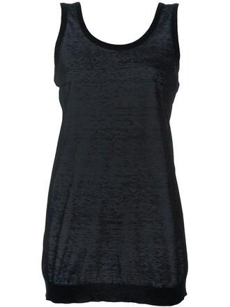 tank top top knit black
