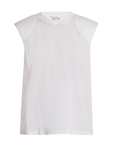 Tibi top cotton white