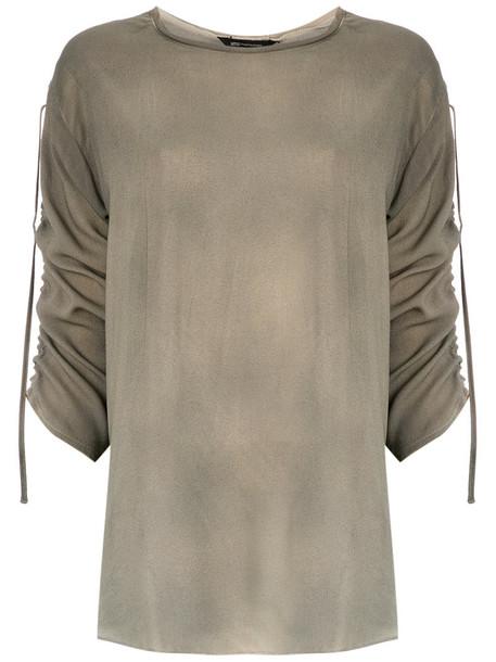 blouse women nude top