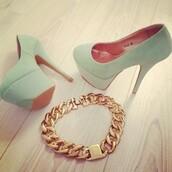 shoes,pumps,lime,beautiful,platform shoes,jewels,gold jewelry,mint green shoes,high heels,mint,mint pumps mintpumps please help