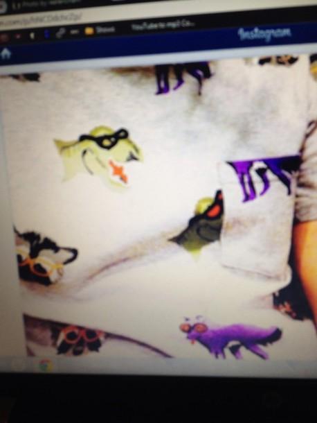 shirt Dinosaur print racoon tail h&m topshop jackwills