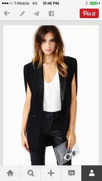 coat jacket cape black shoulder blazer