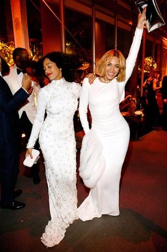 dress white dress long dress long sleeve dress oscars 2015