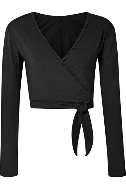 Ballet Beautiful top wrap top black