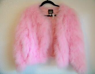 jacket pink faux fur h&m pink faux fur jacket