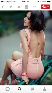 backless dress,pink dress,dress,pink,spring,summer,classy,sexy,elegant,open back,soft pink,love,pretty,beautiful,nude,nude dress,bodycon,bodycon dress,backless,open back dresses,party dress,sexy party dresses,sexy dress,party outfits,sexy outfit,summer dress,summer outfits,spring dress,spring outfits,fall dress,classy dress,elegant dress,cocktail dress,cute dress,girly dress,date outfit,birthday dress,clubwear,club dress,homecoming,homecoming dress,wedding clothes,wedding guest,engagement party dress,romantic dress,romantic summer dress,the same color as the picture,the same dress,be smart,light pink,low cut dress,black dress,fancy,cute,short dress,tan,bracelets,stacked bracelets,tattoo,pumps,pink pumps,All pink outfit,sleeveless dress