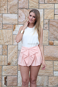 BOW SHORTS , DRESSES, TOPS, BOTTOMS, JACKETS & JUMPERS, ACCESSORIES, 50% OFF SALE, PRE ORDER, NEW ARRIVALS, PLAYSUIT, COLOUR, GIFT VOUCHER,,SHORTS,Pink Australia, Queensland, Brisbane