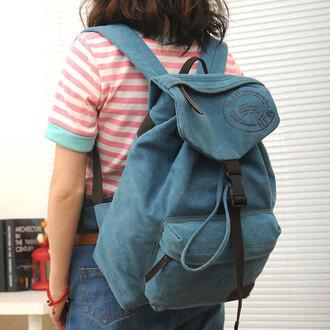 bag backpack canvas backpack fashion school bag kids school backpacks