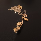 jewels,rose,gold,necklace,jewelry,roses,rose necklace,gold necklace,gold jewelry