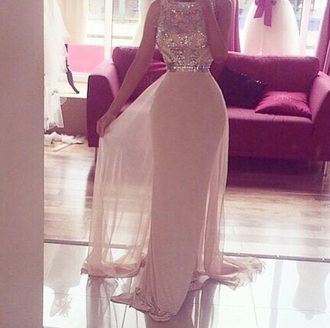 dress beige beige dress nude nude dress glitter prom dress