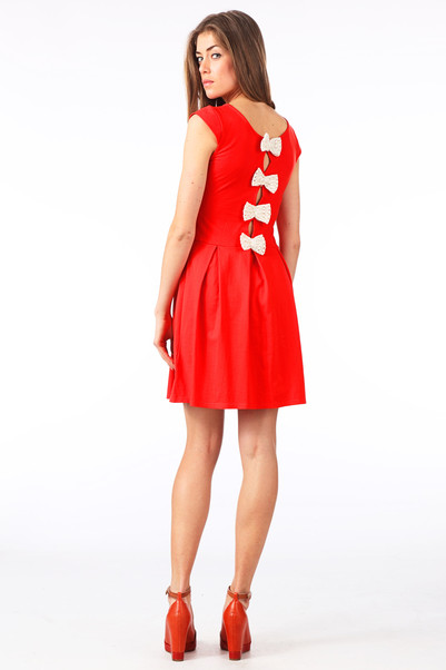 Robe bowback rouge kling sur monshowroom.com