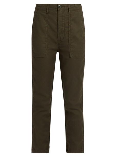 The Great cropped dark khaki pants