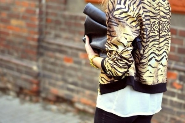 jacket bomber jacket animal print