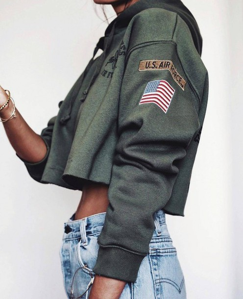 blouse green army green jacket military style usa style army jacket coat  military fur sexy military 5f0307da6