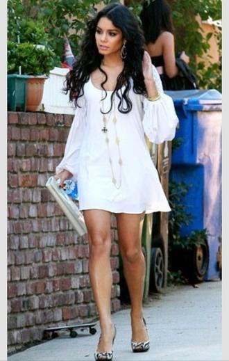 dress vanessa hudgens white dress