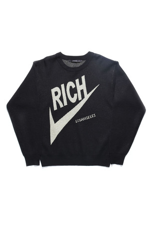 RICH KNIT CREW / BLACK - JOYRICH Store