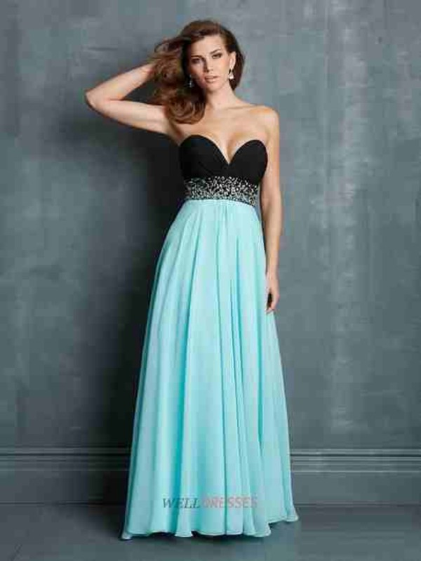 dress black blue one shoulder. prom dressss grad dress baby blue prom dress black dress long dress