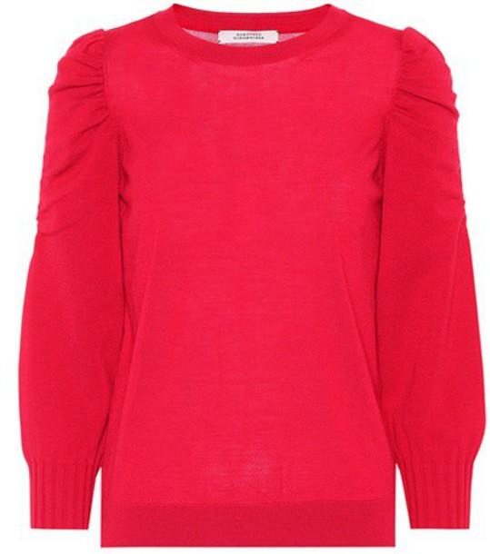 Dorothee Schumacher sweater wool sweater wool red